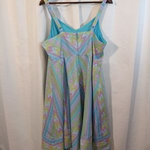 Modcloth Dresses - Modcloth Pastel V neck bow fit and flare dress. 1x